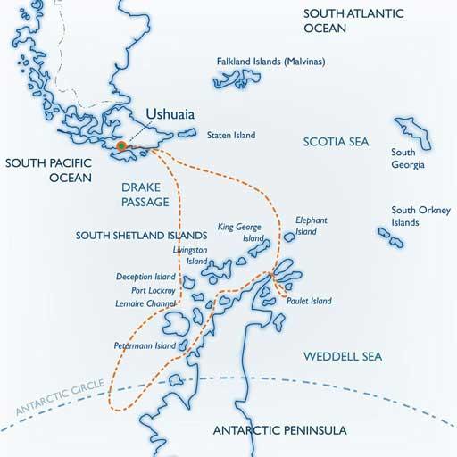 Antarctica Polar Circle