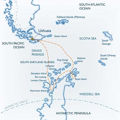 Classic Antarctica Map